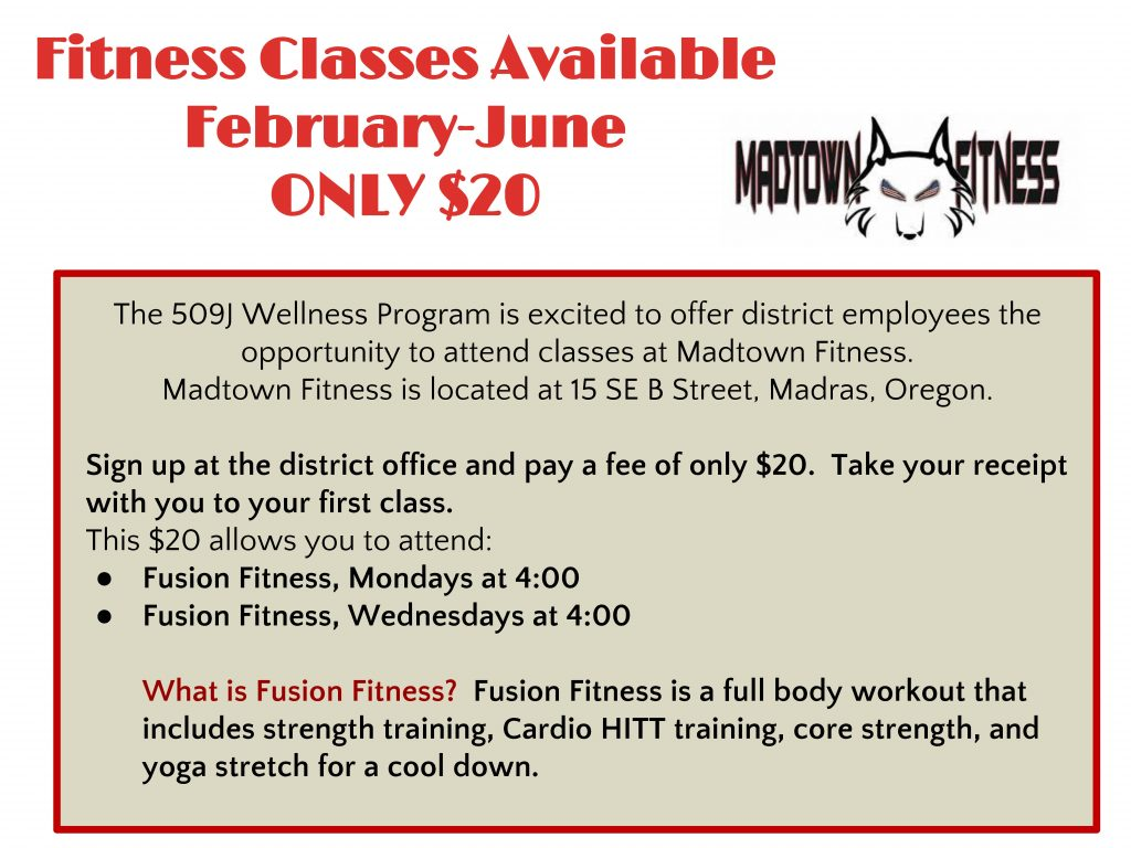 Updated MadTown fitness classes